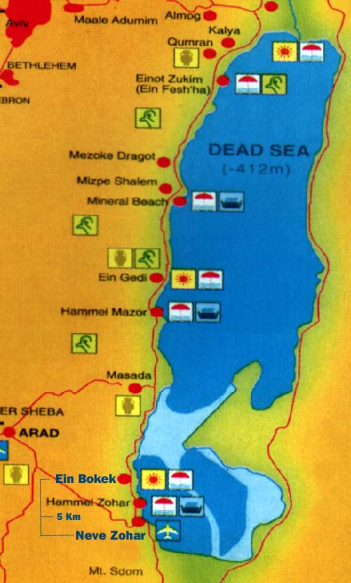 Dead Sea Map  Free Printable Maps