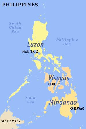 Philippines Map Luzon Island