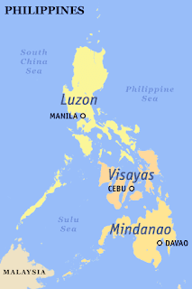 Luzon map of island in Philippines