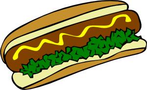 Mustard relish hot dog clip art