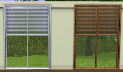 My sims 3 blog windows with built in blinds for Windows with built in shades