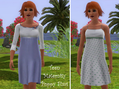My sims 3 blog more teen maternity clothes by poppy