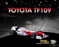 Wallpaper Toyota RF109 F1 2009 1280x1024