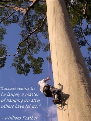 Famous sayings, quotes from famous people: Success - a matter of hanging on