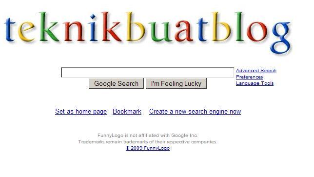 Menukar nama search engine