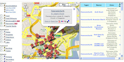 Screen Shot of Panoramic Earth Signapore data www.sgmash.com