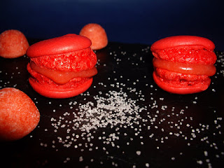 Macarons Fraise Tagada facon Laduree haribo
