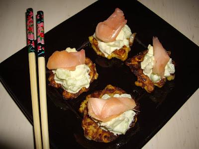 galettes de mais et poulet a la japonaise
