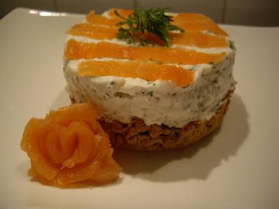Cheesecake au chèvre et saumon