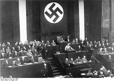 Hitler's Reichstag speech promoting the Enabling Act bill from 1933