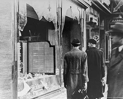 Kristallnacht broken shop windows