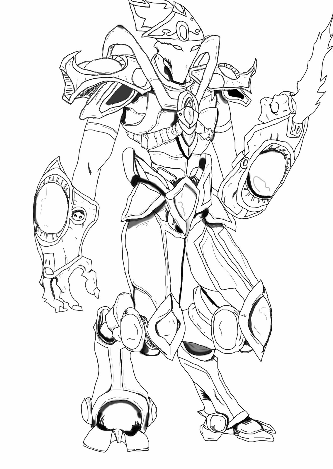 Protoss starcraft 2 coloring pages coloring coloring pages for Starcraft coloring pages