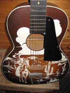 vintage cowboy guitar dog - photo #24