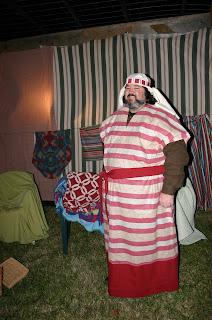 Jonathan D. Eller in his Journey To Bethlehem costume