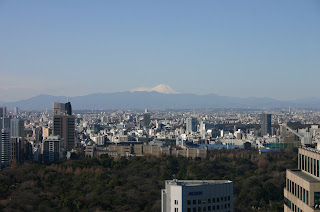 Mount Fuji from the 40th floor of the Grand Prince Akasaka Hotel