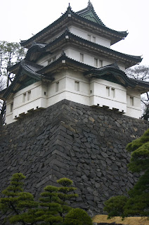 One of the keeps from Edo Castle on the Imperial grounds in Tokyo Japan