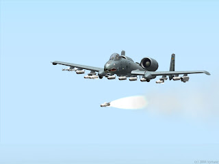 An A-10 Warthog in action