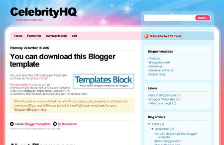 CelebrityHQ Blogger Template