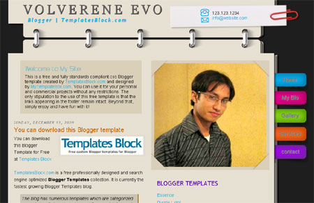 Blogger Template | Milano