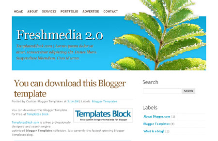 Freshmedia 2.0 Blogger Template