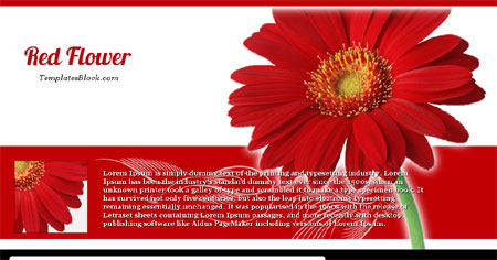 Red Flower Nature Web2.0 Blogger Template