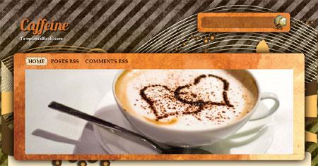 Caffeine Cup Magazine Blogger Template