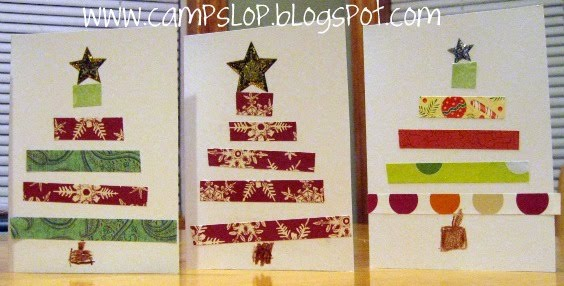 Camp Slop: Handmade Christmas Cards (by kids) and Teacher Gifts