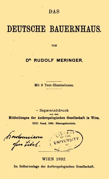 Bahofa bauernhofarchiv literatur oktober 2010 for Hausformen in deutschland