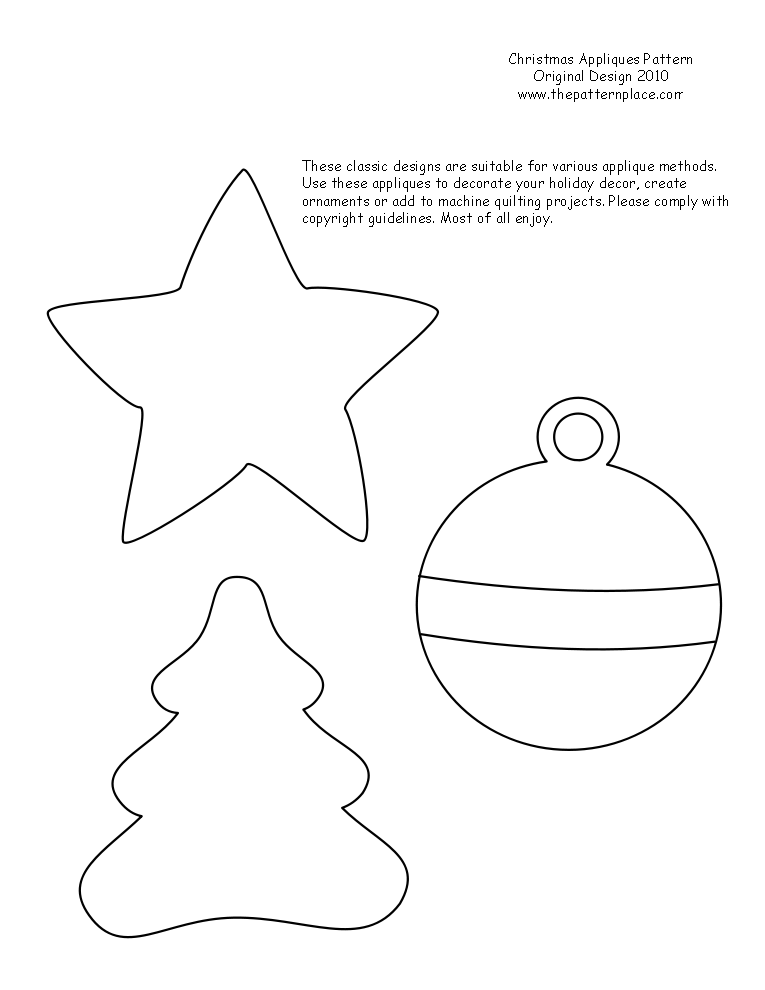 Stupendous image intended for free printable christmas ornament patterns