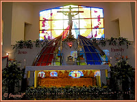 Beautiful inside of the Church of The Divine Mercy in Shah Alam