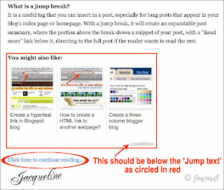 Screen shot showing the LinkWithin thumbnails above the Read More link as wrongly placed