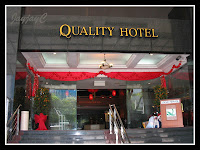 Main entrance to Quality Hotel