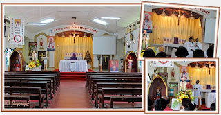 Inside the Church of St John Vianney in Tampin, Negeri Sembilan