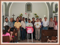 A group photo of all the fathers present including Fr. Valentine, our parish priest