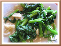 A plate of stir-fried veggie