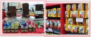 Mushroom products sold at Ganofarm's shop, Tanjung Sepat