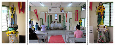 Interior of the Chapel of St Jude in Gopeng, Perak