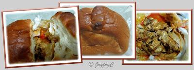 Collage of bread chicken from Kam Ling Restaurant, Kampar in Perak