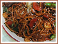 A plate of noodles, 'Hokkien Mee' for dinner