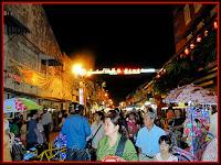 Jonker Walk, a popular open air night-market in Malacca