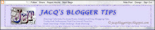 Screenshot to show the Navigation Bar (navbar) at the top of Jacqsbloggertips' blog