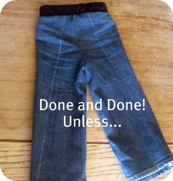 как сшить из старых джинсов подушку видео