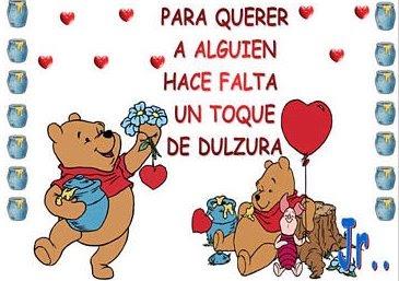 winnie pooh con frases de amor