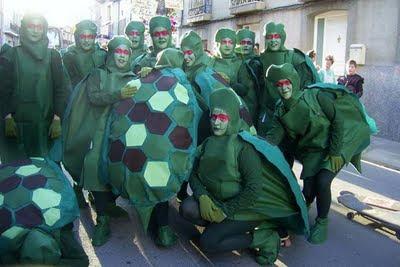 Creando un caparazón de tortuga 2. Disfraz tortuga ninja