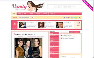 Premium Vanity Wordpress Theme