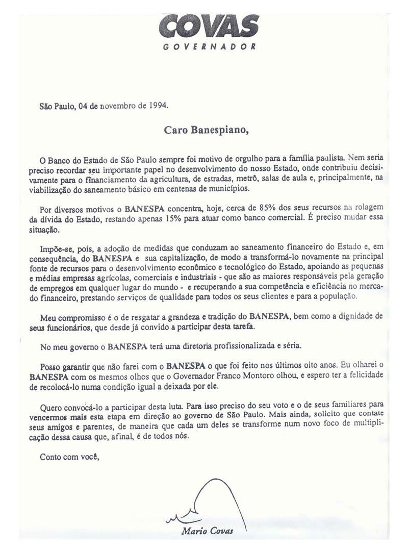 Memória: Privatização do Banespa completará 14 anos em novembro
