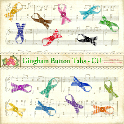 Gingham Button Tabs by Raspberry Road Designs GinghamTabs_CU_Freebie_Preview
