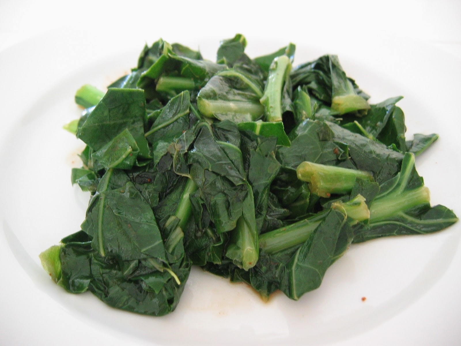 Superfast Hoisin Collard Greens