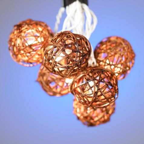 Rattan Ball String Lights Target : Moved