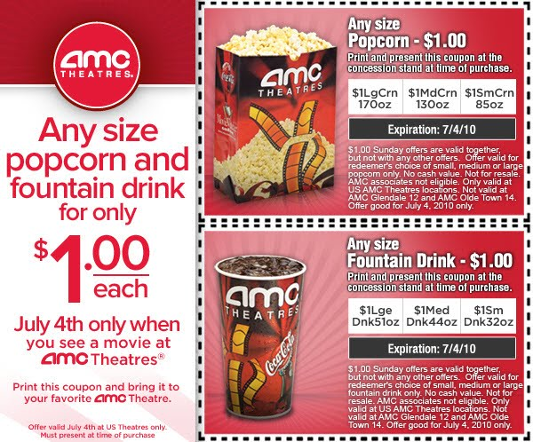 5. Students with a current ID receive ticket discounts on Thursdays. 6. AMC Theatres promo codes are rare. Your best bet for deals on movie tickets and concessions is to visit the AMC Theatres coupon .